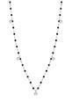 Gigi Clozeau / Collier or gris, perles de résine et 5 diamants