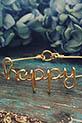 Atelier Paulin / Bracelet Happy en fil de cuivre doré à l'or fin cuivre doré