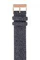Briston / Bracelet interchangeable flanelle gris / or rose