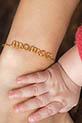 Atelier Paulin / Bracelet en cuivre doré à l'or fin 1 à 5 lettres