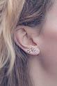 Atelier Paulin / Earcuff Rock argent  oreille gauche