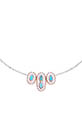 Pascale Monvoisin / Collier Montauk n°2 perles argent bakélite et turquoise