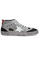 Golden Goose / Sneakers Mid Star maille argent