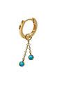And... Paris / Mini créole charm deux chaines et turquoises