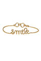 Atelier Paulin / BraceletSmile en fil de cuivre doré à l'or fin
