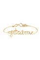 Atelier Paulin / Bracelet  Je t'aimeen fil de cuivre doré à l'or fin