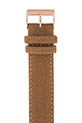 Briston / Bracelet interchangeable en flanelle - Camel - or rose