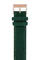 Briston Bracelet interchangeable en flanelle - Vert anglais - or rose