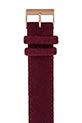 Briston Bracelet interchangeable flanelle bordeaux/or rose