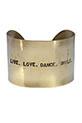 Atelier 7|12 / Manchette gravée Live. Love. Dance. Smile