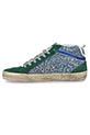 Golden Goose / Sneackers Mid Star green glitter white