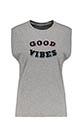 6397 / Débardeur Good Vibes gris