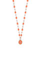 Gigi Clozeau / Collier or rose perles de résines et étoile du nord pendentif