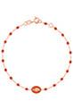 Gigi Clozeau / Bracelet or rose, perles de résine et médaille Madone émaillée