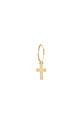 Anine Bing / Boucle d'oreille mini créole croix