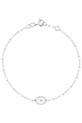 Gigi Clozeau / Bracelet or gris, perles de résine et médaille étoile du nord