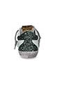 Golden Goose / Sneakers Superstar green glitter heel
